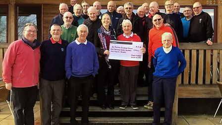 David Mollon and his fellow golfers at Mount Pleasant raised nearly £3,000 for the MS Society.