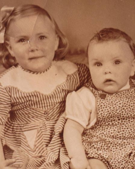 David and Pamela Mollon as children in the 1950s.