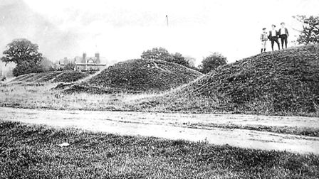 The Six Hills, photographed in 1895.