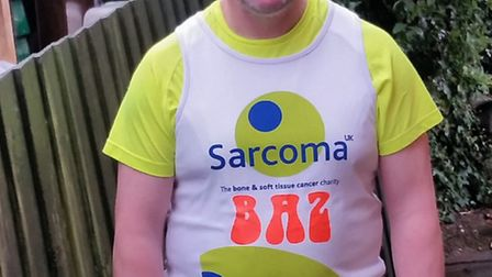 Baz Colley, who is running the London Marathon on Sunday in memory of his brother and friend's son