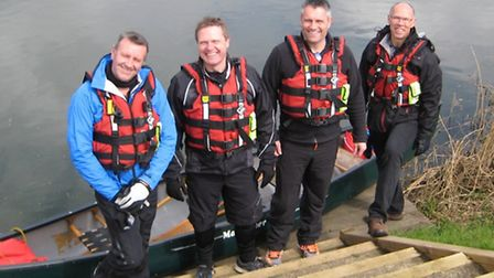 Canoe quartet Neil Norman, Phil Parker, Frank Gollogly and Adrian Le Roux are planning to canoe from