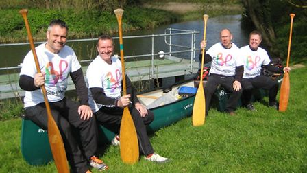 Canoe quartet Frank Gollogly, Neil Norman, Adrian Le Roux and Phil Parker are planning to canoe from