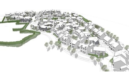 An artist's impression of what the Potton housing development could look like.