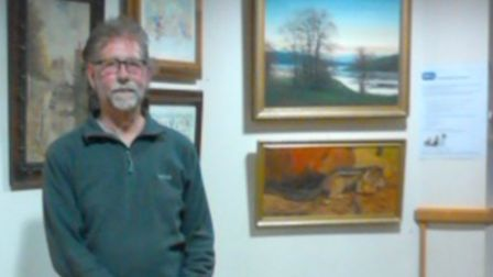 Gordon Craig Theatre art critic David Gale looks over some of the works of art that make up the RSPC