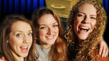 Hitchin's Market Theatre presents The Happy Funeral. Pictured are Pippa Johnson, Lauren Osborn and A