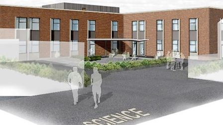 Work is shaping up on Stratton Upper School's £8.4 million science block expansion.