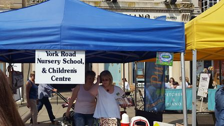 The York Road Nursery stall at Fair In The Square.