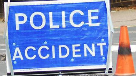 Two vehicles collided on Gresley Way in Stevenage this morning
