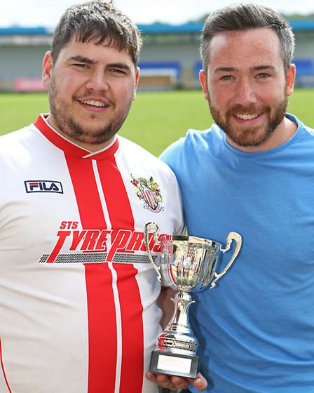 Mitchell Cole tournament organisers Keith Bell and Mitchell's brother Ben Cole