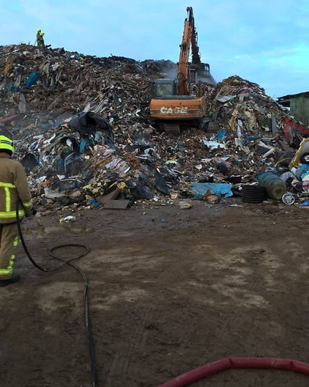 The waste heap at Holloway Road, Widdington. Pic: Essex Fire and Rescue
