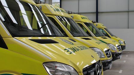 A man in his 20s was taken to hospital after a car crash in Hitchin.