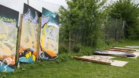 A set of graffiti boards at the Lakes Recreation Ground which were donated to the town have been dam
