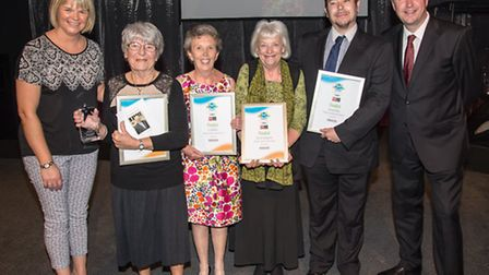 Finalists in the Lifetime Achievement category with host David Croft