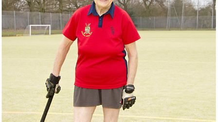 Anne Graves of Stevenage Hockey Club - aiming to reclaim her world record as oldest active player at