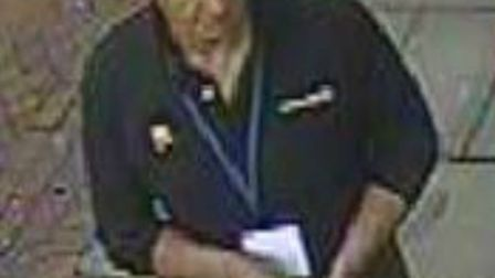 Police have issued a CCTV image of a man they want to talk to in connection with a Hitchin cashpoint