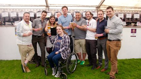 The Comet team at the beer festival!