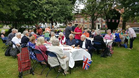 The street party for the queen was made possible by several old town businesses, and organised by Th