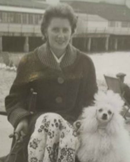Sheila Cooper with her first poodle.