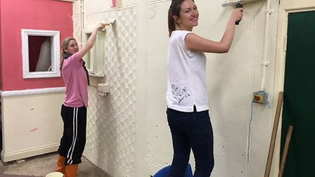 Volunteers from Stansted Airport helped spruce up a farm at Saffron Walden County High School