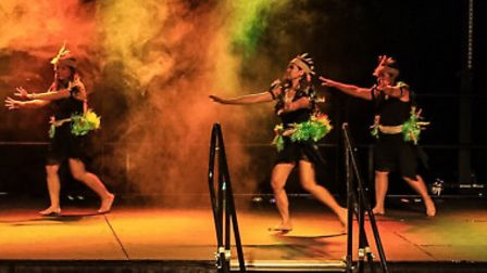 Dancers lighting up the Gordon Craig stage on Saturday night . Picture Chris Ludwick