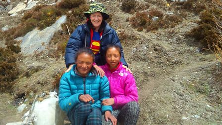 Loraine Denison, pictured in Nepal, is to walk 500 miles across norther spain on the pilgrim trail,