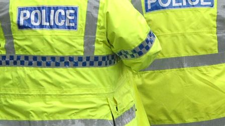 A man was taken to hospital after being stabbed in the buttocks in Hitchin this afternoon.
