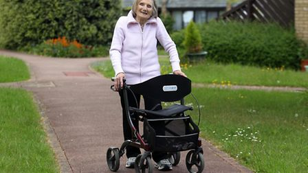 Fay Reid, 86, walked 8.5 miles on Sunday and raised £300 for charity