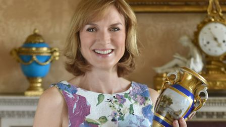 Fiona Bruce and the Antiques Roadshow are at Audley End today