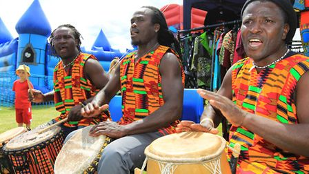 African drummers will once again provide some of the entertainment on Stevenage Day