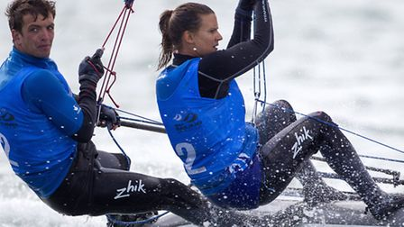 Ben Saxton and Nicola Groves.. Picture: British Sailing Team/Rachel Jaspersen