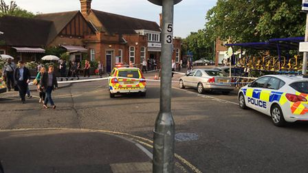 The scene at Letchworth railway station at about 8.15pm on Thursday evening. Photo: @MarkFSyed via T