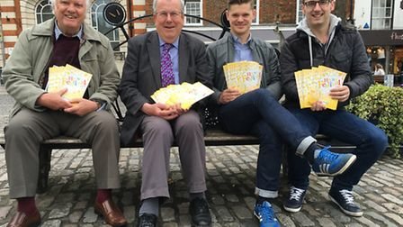 Hitchin Festival committee members Tony Phillips, Keith Hoskins, Tim Wheeler and Glyn Doggett.