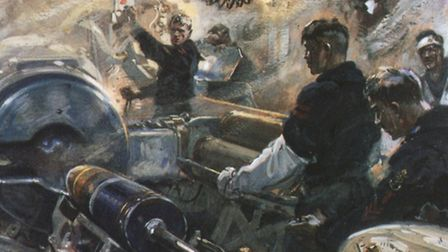 The Battle of Jutland 1916, a war artist's view of the action from the German side