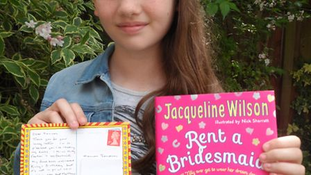 Fan Hannah Thompson, 10, couldn't be there when her favourite author Jacqueline Wilson came to Letch
