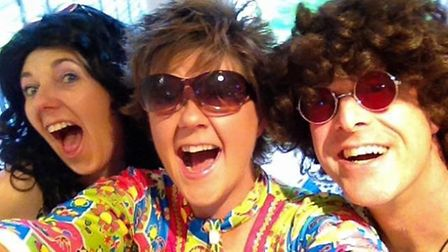 Deb Tye, Lorraine Blakes and Colin Tye at Friday's fundraising disco in Letchworth in aid of the Alz