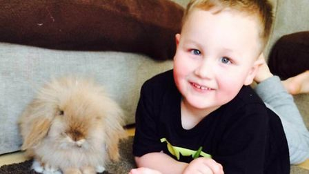 Louie Morris, 3, who fell and suffered a suspected fractured skull at Baldock's West Avenue Splash P