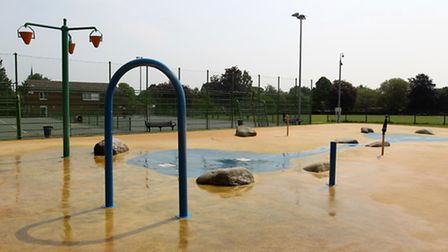 The Splash Pad in Baldock's Avenue Park, where three-year-old Letchworth boy Louie Morris suffered a