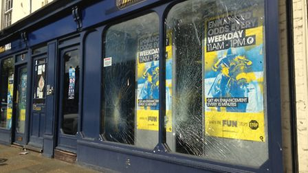 Wilkinson admitted causing more than £5,000 worth of damage at William Hill betting shop in Stevenag