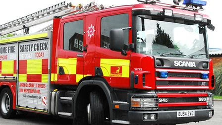 Fire crews from Stevenage are dealing with a car fire on the A1(M)
