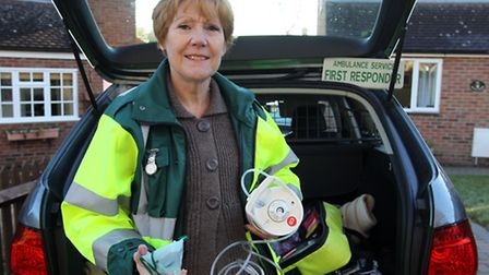 Pam Biggs has been volunteering as a community first responder for 11 years in Hitchin.