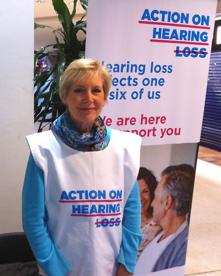 Jo Mills volunteers for Action on Hearing Loss by giving talks in the community.