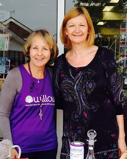 Carolyn Linsell, left, and Joan Blythe who volunteer at the Willow Foundation's charity shop at The