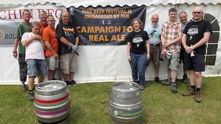 Hitchin Beer Festival organisers getting ready for Hitchin Beer Festival
