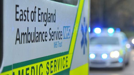 Ambulance, police and the fire personnel all attended the scene in Glebe Road, Letchworth.
