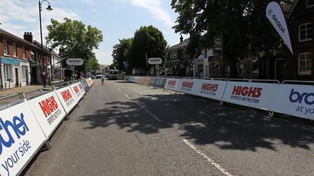 Preparations are wel underway for the Pearl Izumi event in Stevenage Old Town.