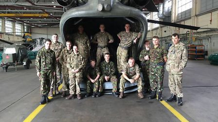 The 2065 Biggleswade Air Cadets' trip to RAF Odiham.