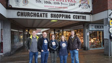Organisers get ready for the Hitchin Beer and Cider Festival.