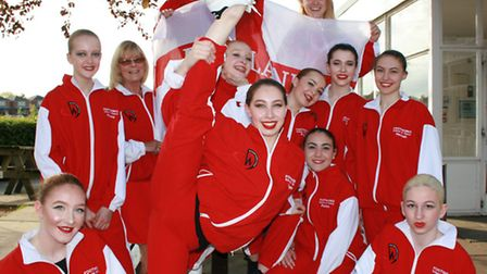The Footworks Team England performers in their official tracksuits