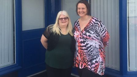 Advice services manager Roanne Mangham and Cath Bennett, communications, research & campaigns co-ord