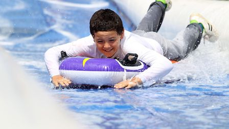 More than 600 went down the slide after tickets sold out.